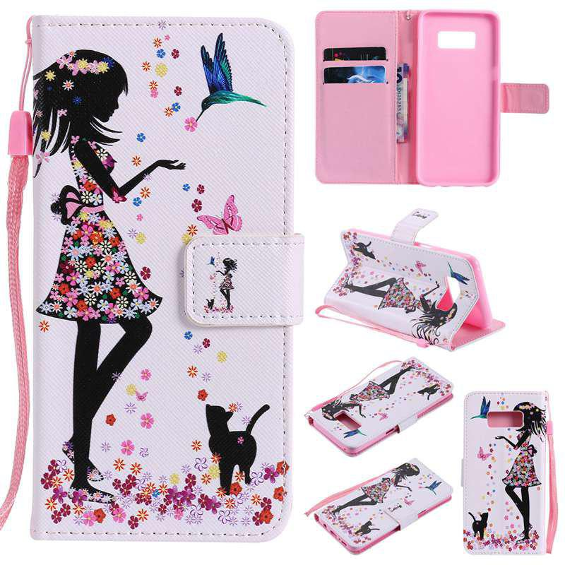 Shops Painted Pu Phone Case for Samsung Galaxy S8