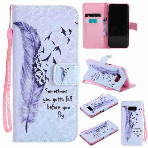 Chic Painted Pu Phone Case for Samsung Galaxy S8 Plus