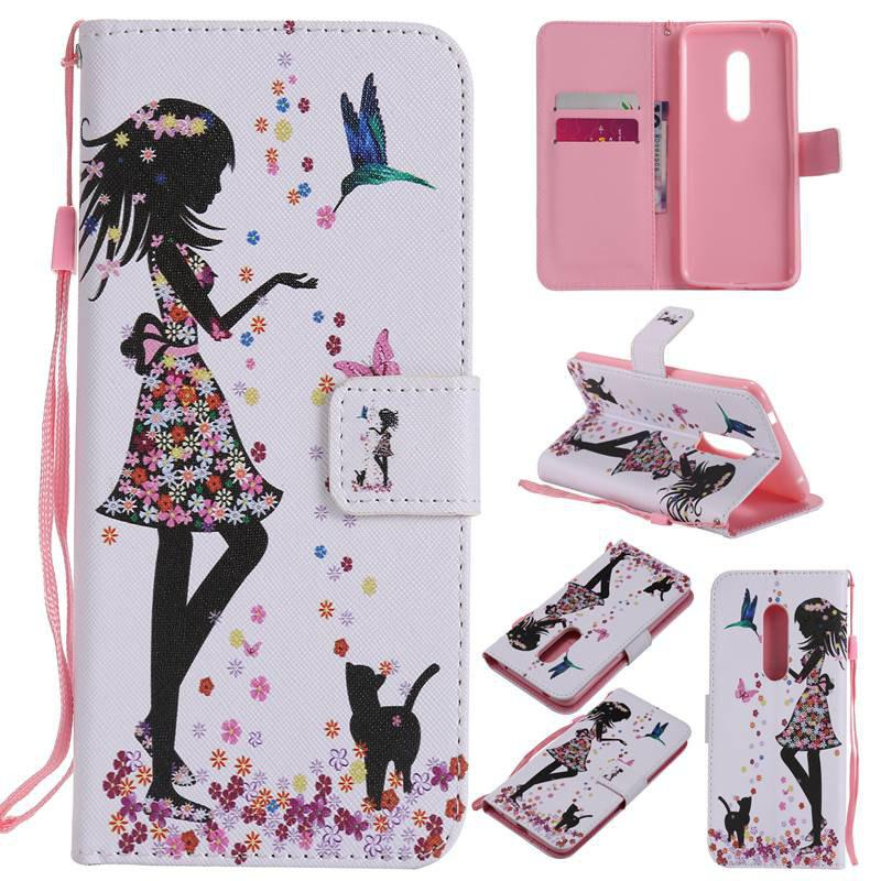 Chic Painted Pu Phone Case for Zte Axon 7