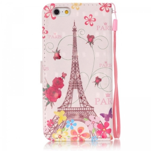 New 3D Painted Pu Phone Case for Iphone 6S / 6 -