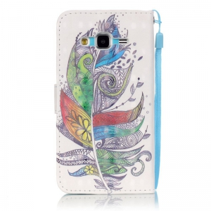 New 3D Painted Pu Phone Case for Samsung Galaxy J3 2015 / J3 2016 -
