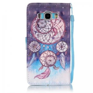 New 3D Painted Pu Phone Case for Samsung Galaxy J5 2016 -