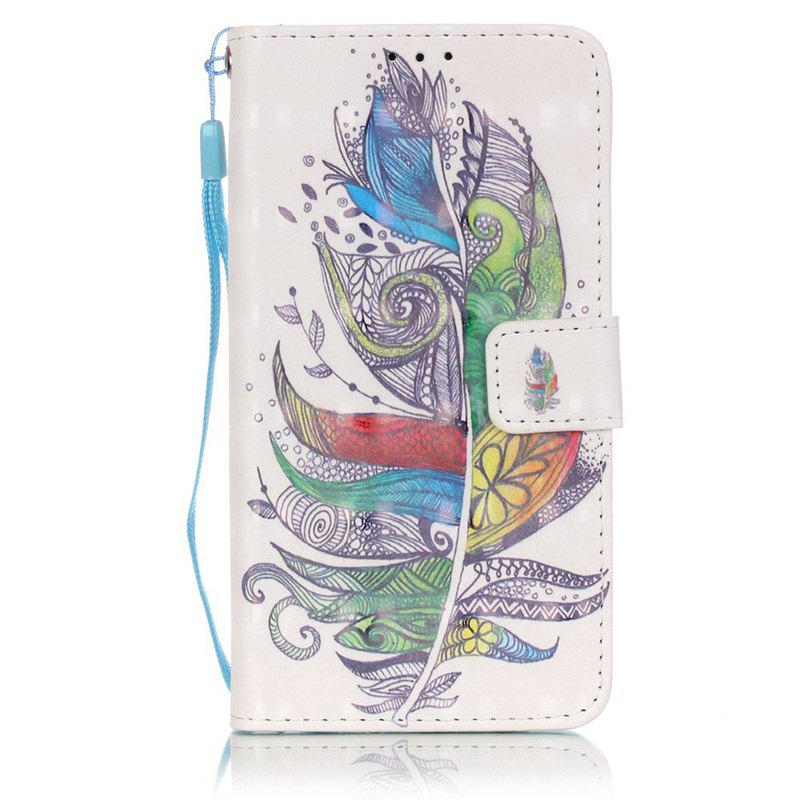 Cheap New 3D Painted Pu Phone Case for Samsung Galaxy J5 2016