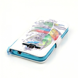 New 3D Painted Pu Phone Case for Samsung Galaxy Core Prime G360 -