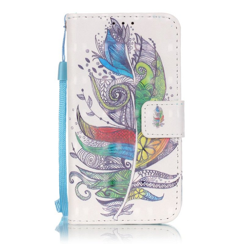 New New 3D Painted Pu Phone Case for Samsung Galaxy Core Prime G360
