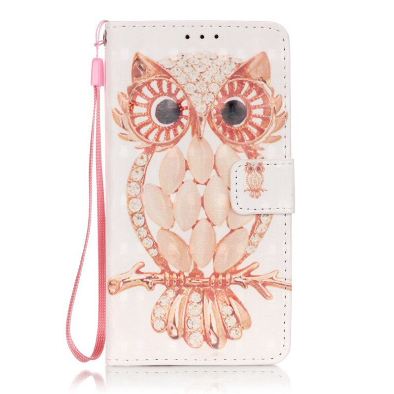Sale New 3D Painted Pu Phone Case for Samsung Galaxy Grand Prime G530