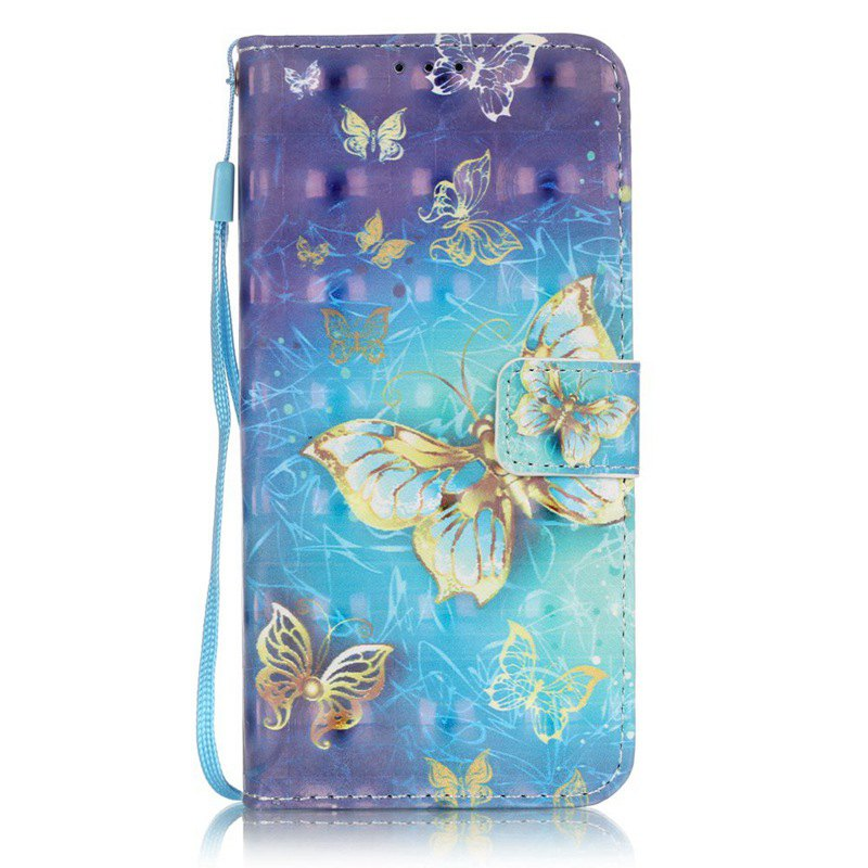 Hot New 3D Painted Pu Phone Case for Samsung Galaxy S7 Edge