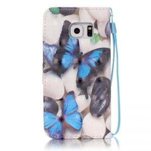 New 3D Painted Pu Phone Case for Samsung Galaxy S6 Edge -