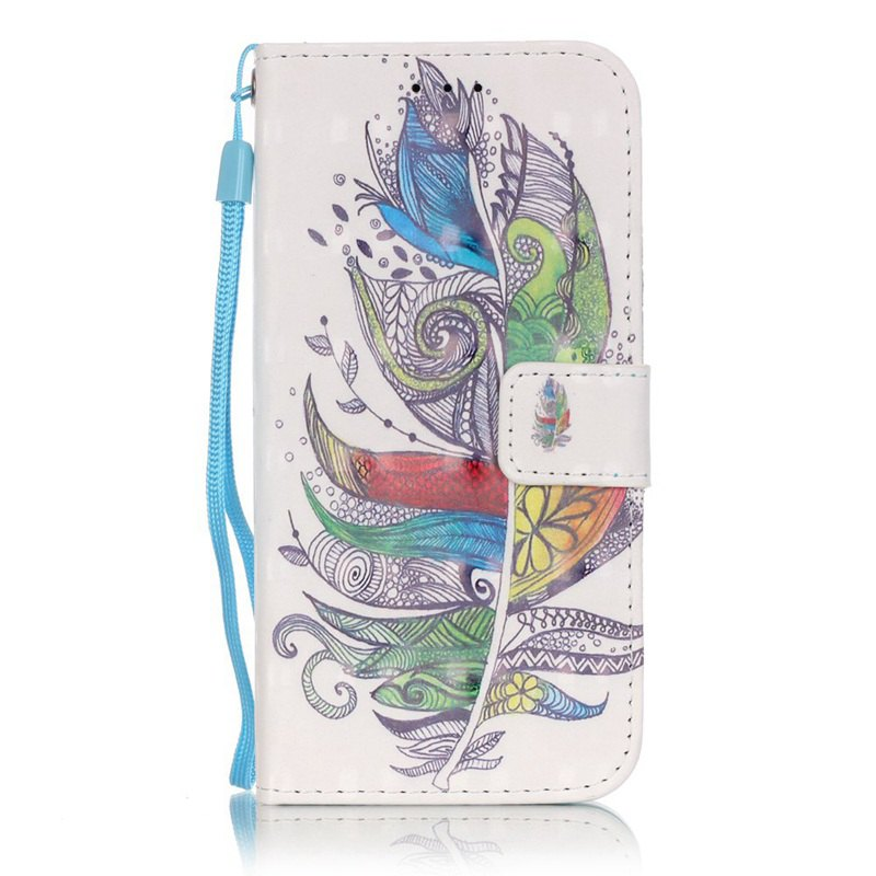 Outfit New 3D Painted Pu Phone Case for Samsung Galaxy S6 Edge