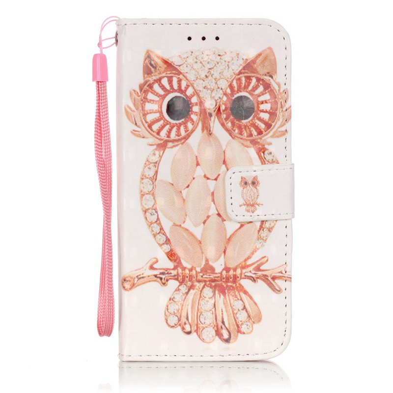 Store New 3D Painted Pu Phone Case for Samsung Galaxy S6 Edge