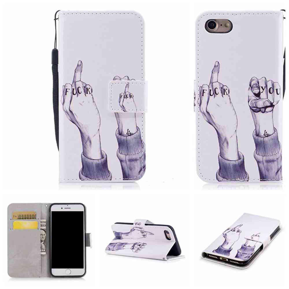 Online Classic Painted Pu Phone Case for Iphone 7 Plus / 8 Plus