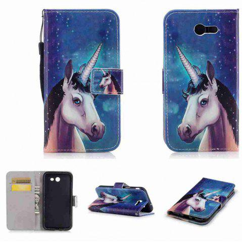 Fancy Classic Painted Pu Phone Case for Samsung Galaxy J3 2017