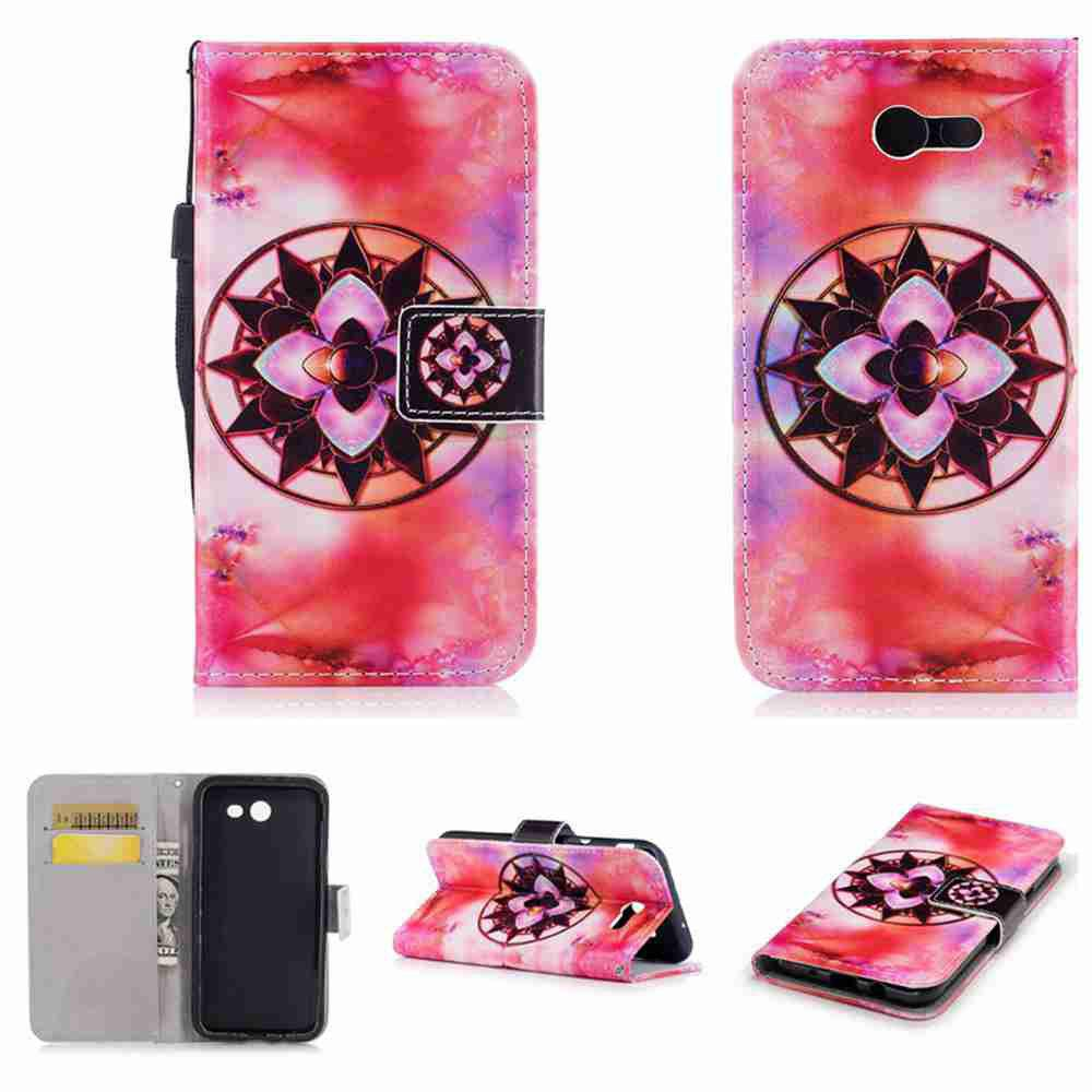 Buy Classic Painted Pu Phone Case for Samsung Galaxy J3 2017