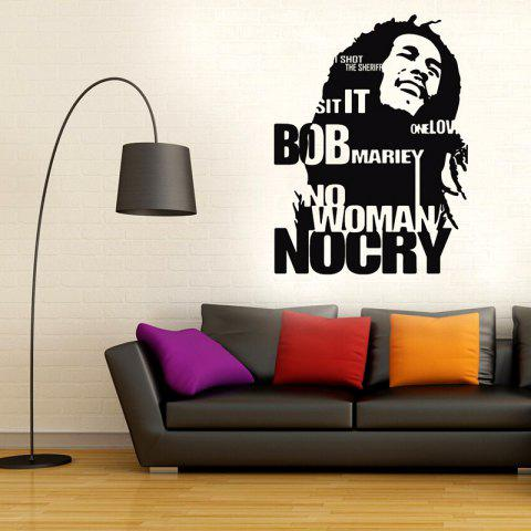 Store Bob Marley Wall Sticker No Woman No Cry Reggae Jamaica Home Decor