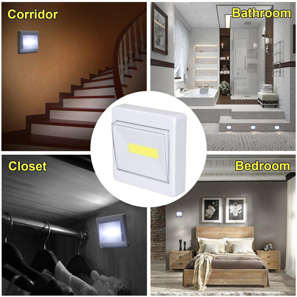 White Supli Mini Led Night Light Closet Lamp Battery Operated Wireless Wall For Under Kitchen ...
