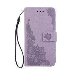 Wkae Phenix Flowers Embossing Pattern Faux Leather Horiontal Folio Stand Case with Lanyard Card Slots for Samsung Galaxy A5 2017 -