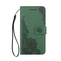 Wkae Phenix Flowers Embossing Pattern Faux Leather Horizontal Folio Stand Case with Lanyard Card Slots for Samsung Galaxy S8 -