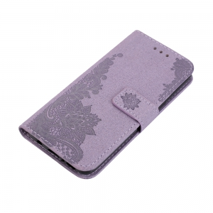 Wkae Phenix Flowers Embossing Pattern Faux Leather Horizontal Folio Stand Case with Lanyard Card Slots for Samsung Galaxy S8 Plus -