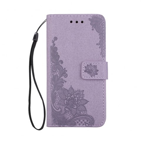 Affordable Wkae Phenix Flowers Embossing Pattern Faux Leather Horizontal Folio Stand Case with Lanyard Card Slots for Samsung Galaxy S8 Plus