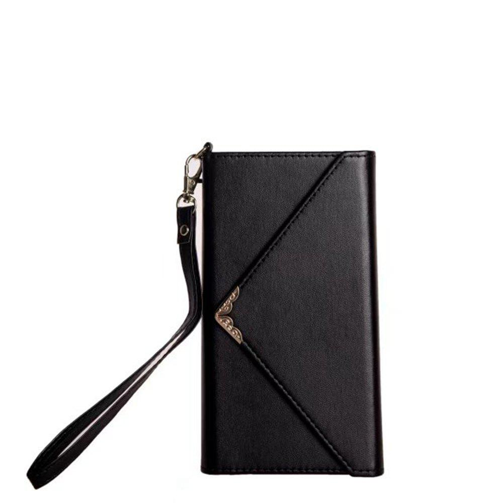 Chic Wkae Stylish V-shape Magnetic Flap PU Leather Case Silicone Cover with Lanyard for Sony Xperia XZ Premium
