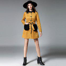 New Autumn And Winter Suede Long Coat -