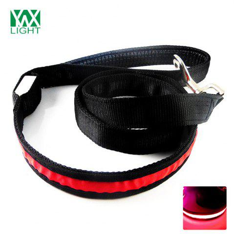 Ywxlight Led Luminescence Pet Traction Rope Rouge