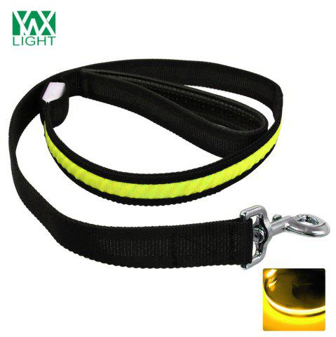 Ywxlight Led Luminescence Pet Traction Rope Jaune