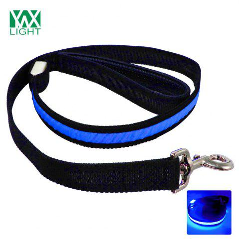 Ywxlight Led Luminescence Pet Traction Rope Bleu