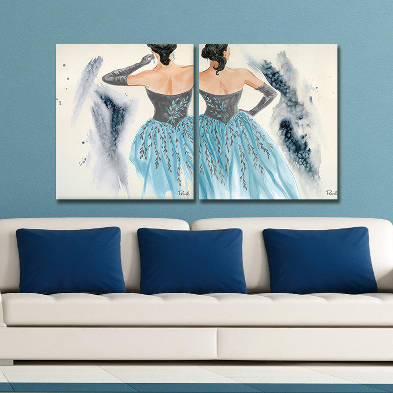 Dyc 10028 2PCS Decoration Woman Print Art Ready To Hang Paintings