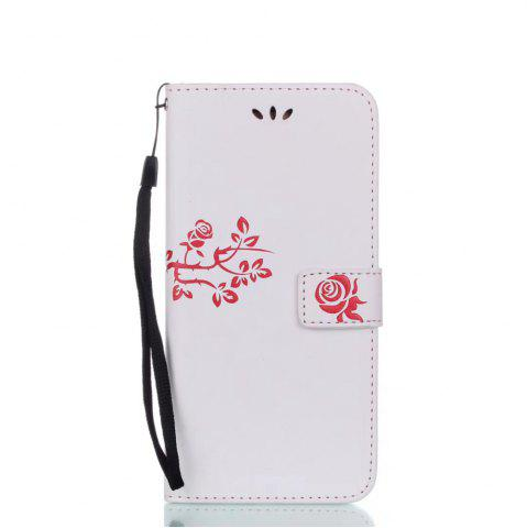 Shop Wkae Double-side Embossing Rose Flower Synthetic Leather Wallet Case Soft Silicone Back Cover with Flip Kickstand and Lanyard for Samsung Galaxy S8 Plus