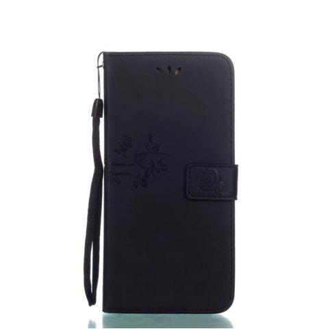 Discount Wkae Double-side Embossing Rose Flower Synthetic Leather Wallet Case Soft Silicone Back Cover with Flip Kickstand and Lanyard for Samsung Galaxy S8 Plus