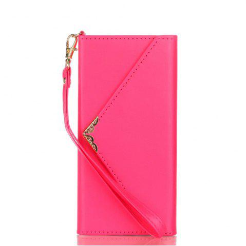 Sale Wkae Stylish V-shape Magnetic Flap PU Leather Case Silicone Cover with Lanyard for Samsung Galaxy S8 Plus