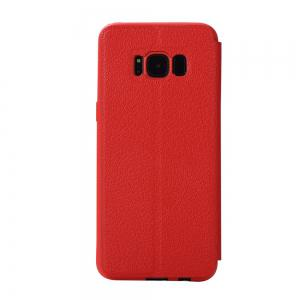 Colourful Textured Ultra-Slim Flip PU Leather Case for Samsung Galaxy S8 -