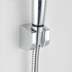 Sea Pioneer Square Shape Adjustable Shower Head Holder Bracket Wall Mounted for Bathroom Hotel - SILVER WHITE