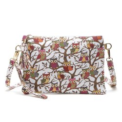 Cartoon Owl Printed Small Crossbody Bag -