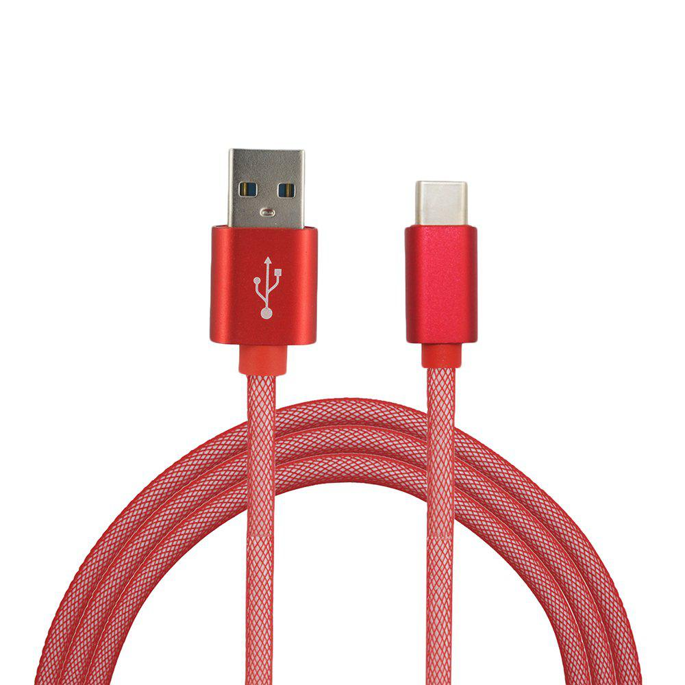Fashion Mini Smile 3.4A Quick Charge Usb 3.1 Type-C To Usb 2.0 Charging Data Transfer Cable 100CM