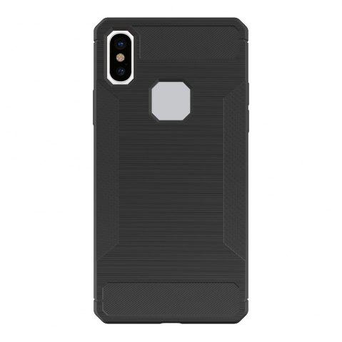 New Mini Smile Anti-Slip Wire Drawing Carbon Fiber + Tpu Style Protective Back Case Cover for Iphone x