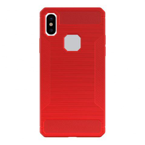 Mini Smile Anti-Slip Wire Drawing Fibre de carbone + Tpu Style Housse de protection arrière pour Iphone x