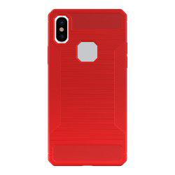 Mini Smile Anti-Slip Wire Drawing Fibre de carbone + Tpu Style Housse de protection arrière pour Iphone x -