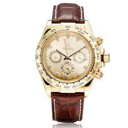 IKCOLOURING 98419G 4592 Fashion Crystal Decoration Men Watch -