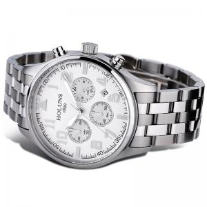 HOLUNS 4609 Business Quartz Steel Band Men Watch -