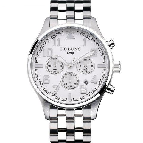 Affordable HOLUNS 4609 Business Quartz Steel Band Men Watch