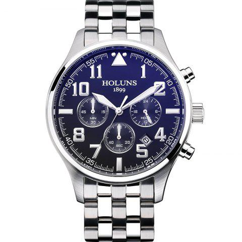 HOLUNS 4609 Business Quartz Steel Band Montre Homme