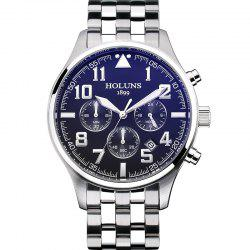 HOLUNS 4609 Business Quartz Steel Band Montre Homme -