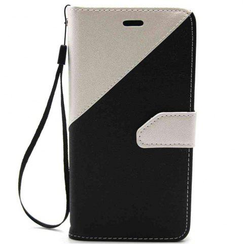 Fashion Stitching Style Golden Beach Pu Phone Case for Huawei P10 Lite