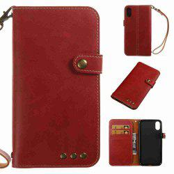Crazy Horse Pattern Retro Leather Phone Case for Iphone X -