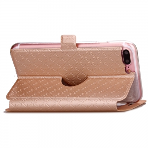 Yc Lingogwen Window Card Lanyard Pu Leather for Iphone 8 Plus -