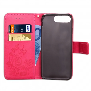 Yc Trèfle Stick Drill Card Lanyard Pu Leather pour Iphone 7 Plus -