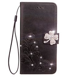 Yc  Clover Stick Drill Card Lanyard Pu Leather for Iphone 7 Plus -
