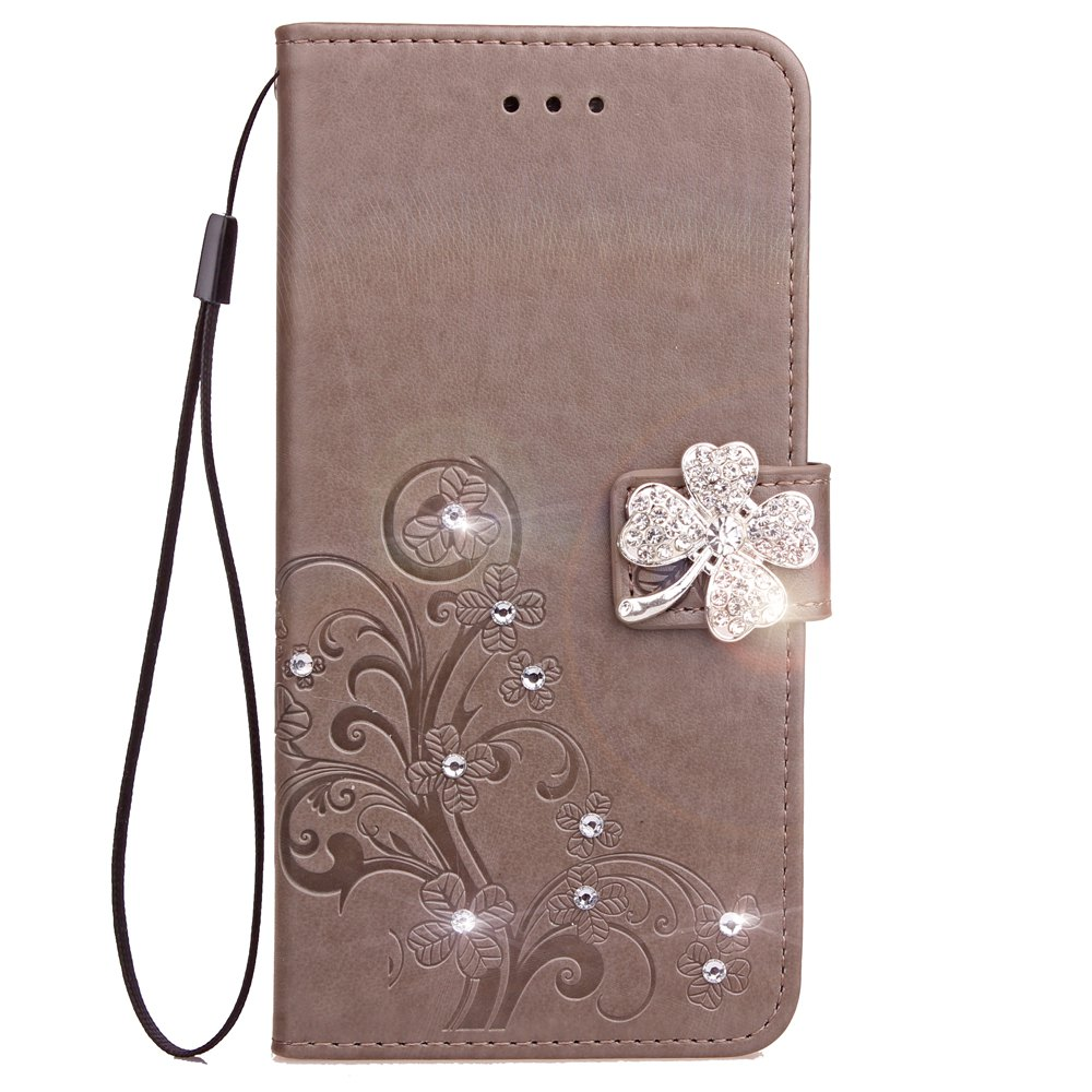 Yc Trèfle Stick Drill Card Lanyard Pu Leather pour Iphone 7 Plus